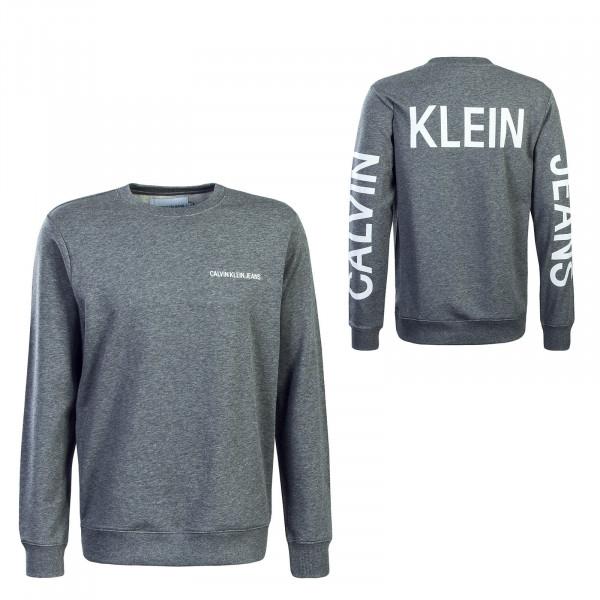 Herren Sweatshirt Institutional Grey White