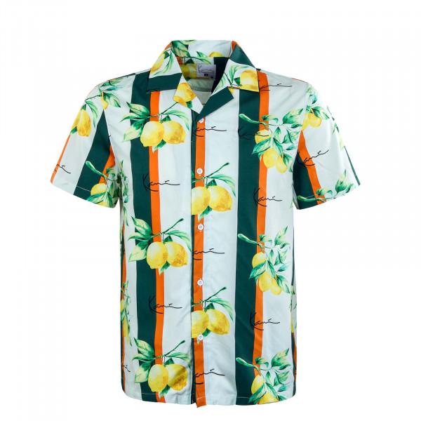Herren Hemd - Resort Shirt - White Green