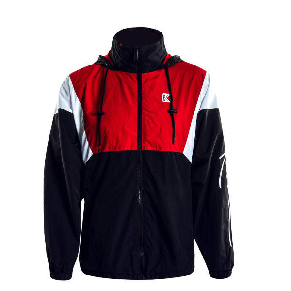 Herrenjacke Retro Block Black Red White