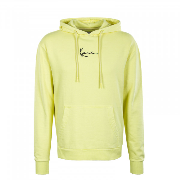 Herren Hoody - Small Signature - Washed Light Yellow