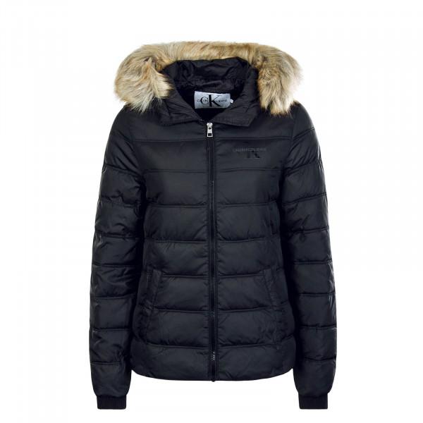 Damen Jacke Puffer Fitted Black