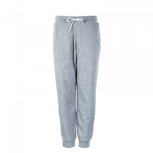 Herren Trainingshose - Bouclé Track Pant - Grey / White