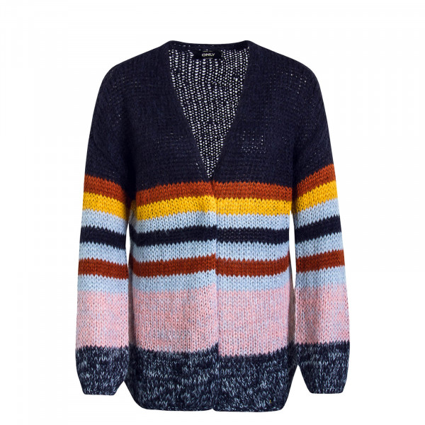 Damen Knit Cardigan New Carle Navy Multi