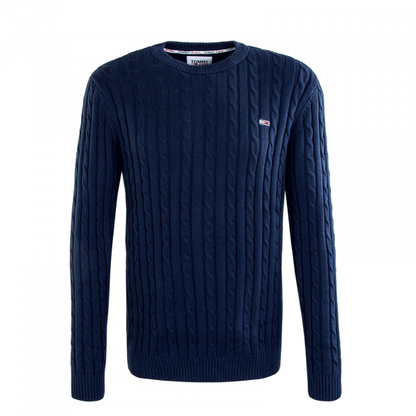 Herren Pullover TJM Essential Cable Knit Navy