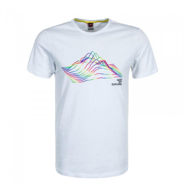 Herren T-Shirt RNBW  White Multi