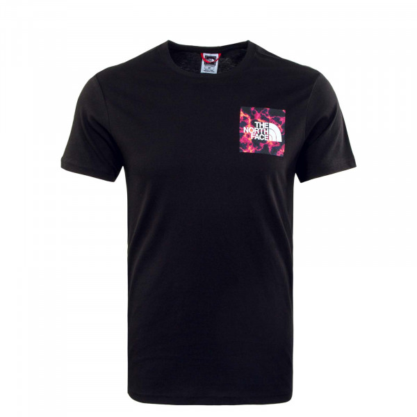 Herren T-Shirt - Fine Black Marble Camouflage Print - Black