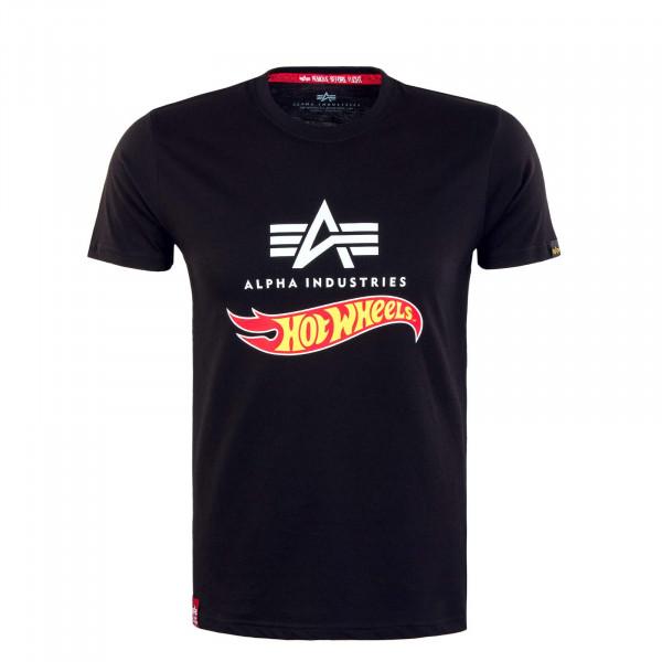 Herren T-Shirt - Hot Wheels Flag - Black