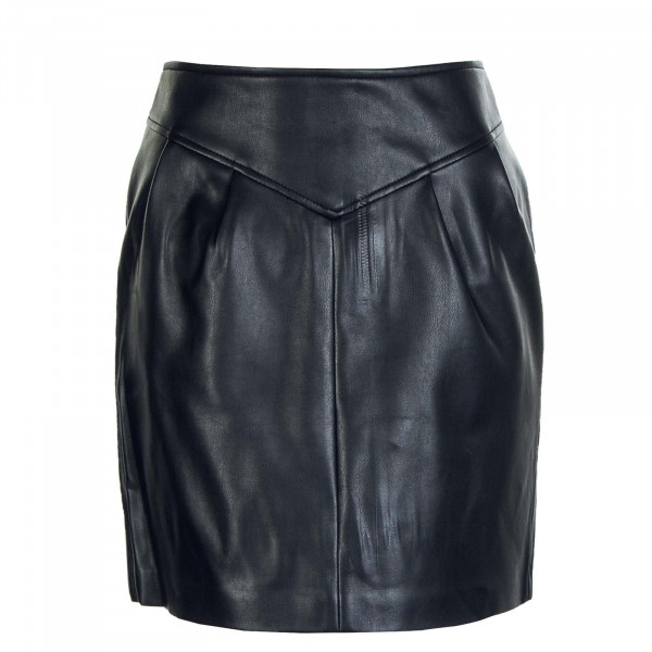 Damen Rock Camilla Faux Leather Skirt Black
