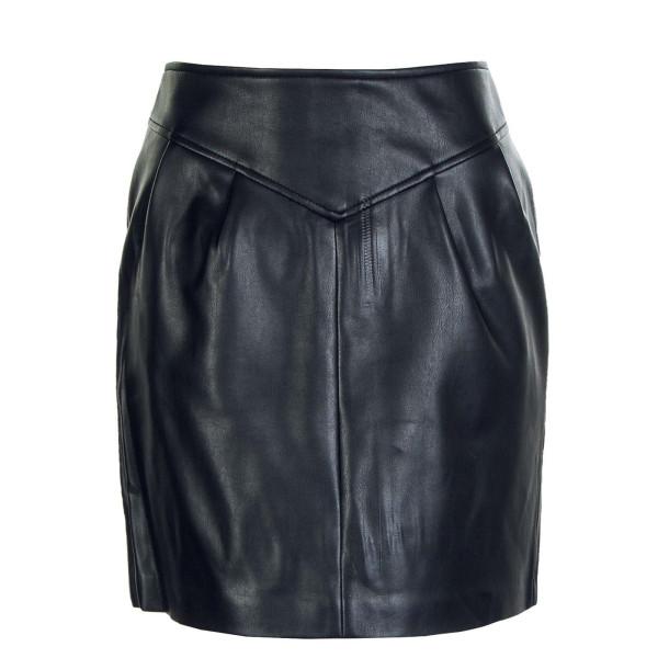 Damen Rock - Camilla Faux Leather - Black