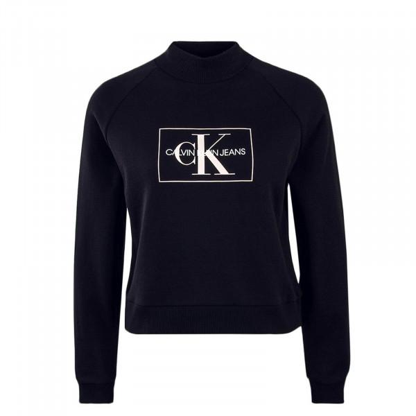 Damen Sweatshirt Outline Monogram Black Rose