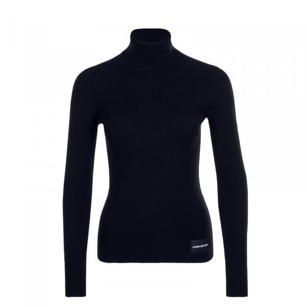 Damen Longsleeve Knit Iconic Rib Black