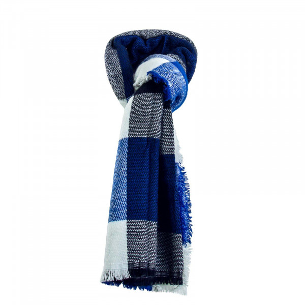 Damen Schal Onlaldini  Square Blue White
