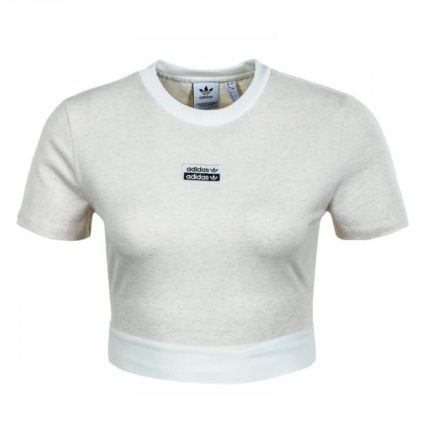 Damen T-Shirt - Cropped - Off White