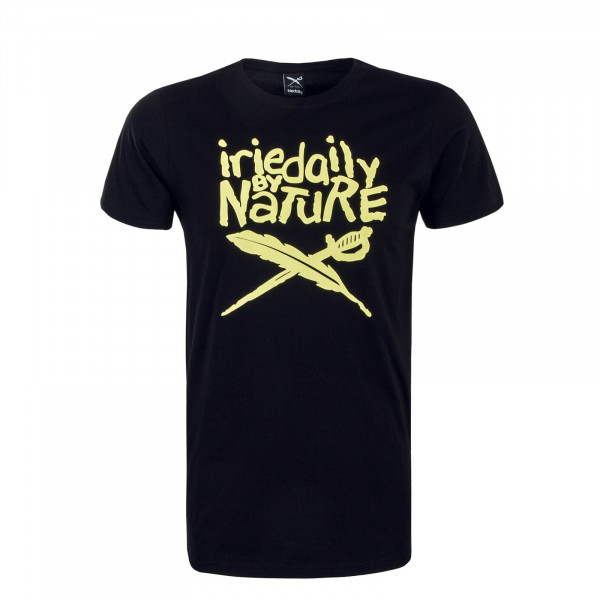 Herren T-Shirt Irienature Black Yellow