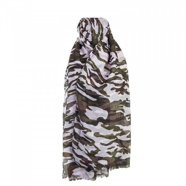 Only Scarf Camo Olive Rose