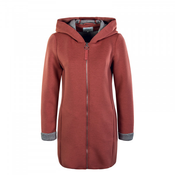 Damen Mantel - Lena Bonded Hood Coat - Withered Rose