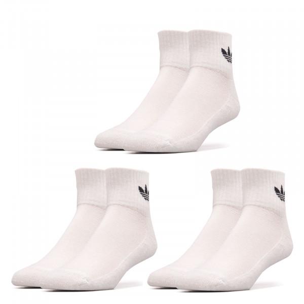 Socken 3er Pack - Mid Ankle - White