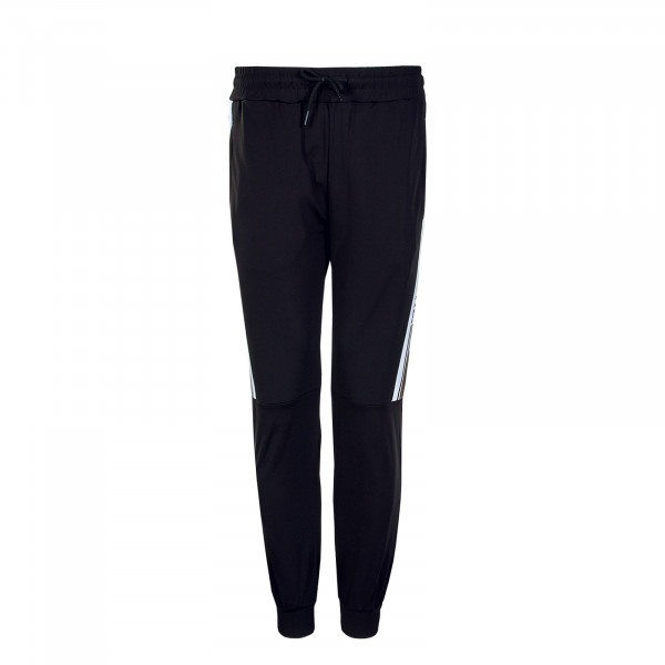 Herren Trackpants Black White Olive