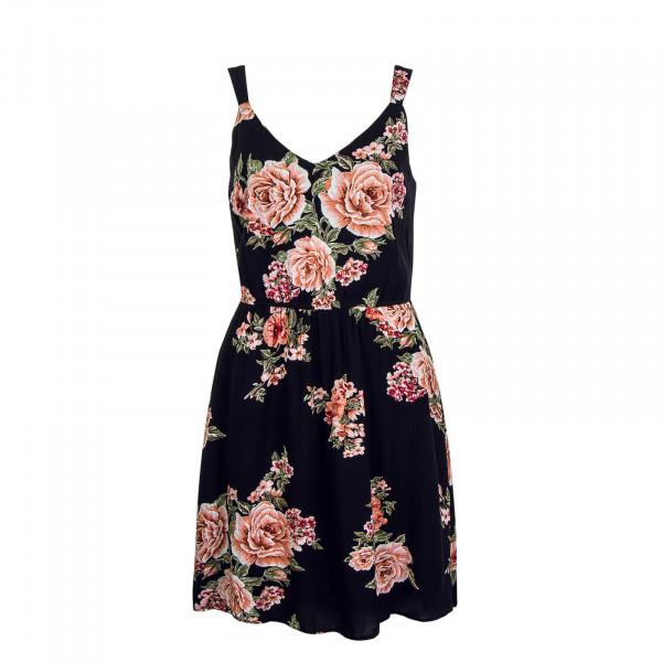 Kleid Karmen Flower Black Orange