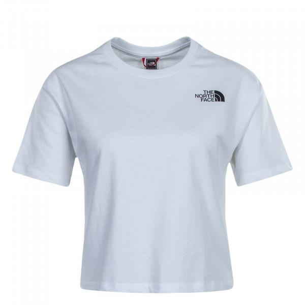 Damen T-Shirt Cropped SD White