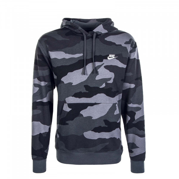 Herren Hoody Club Camouflage Anthrazit Black