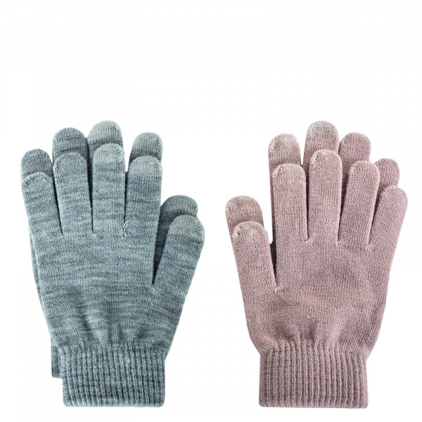 Damen Handschuhe 2er-Pack Aline Light Grey Rosa