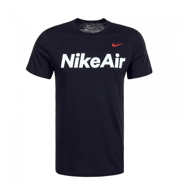 Herren T-Shirt Air 2232 Black White Red