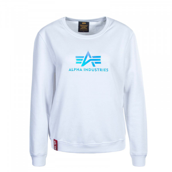 Damen Sweater Rainbow White