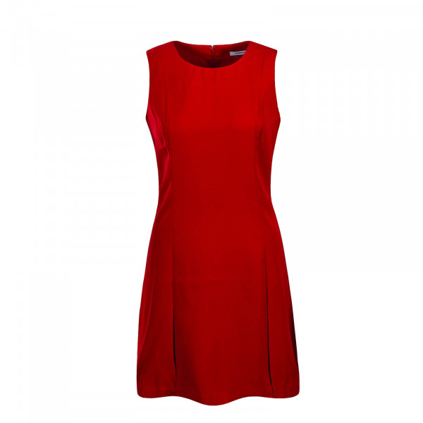 CK Dress Flared Poly Red