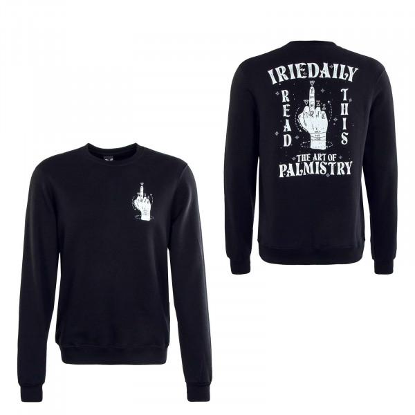 Herren Sweatshirt - Palmistry Crew - Black