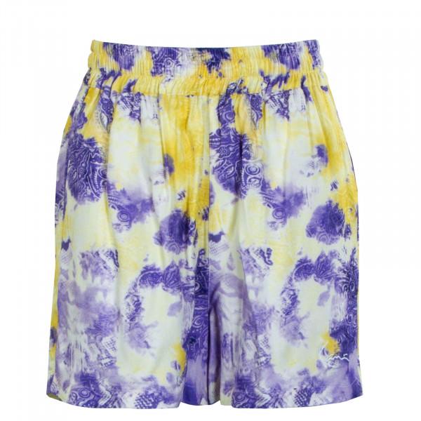 Damen Shorts - Paisley Resort Shorts - purple