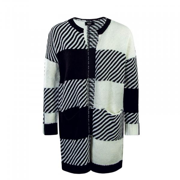 Damen Knit Cardigan Kasey White Black