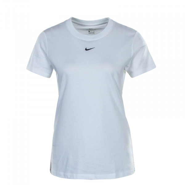 Damen T-Shirt  Essential Crew White Black