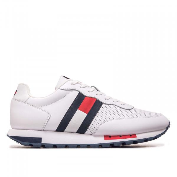 Herren Sneaker - Retro Leather Runner 0726 - White
