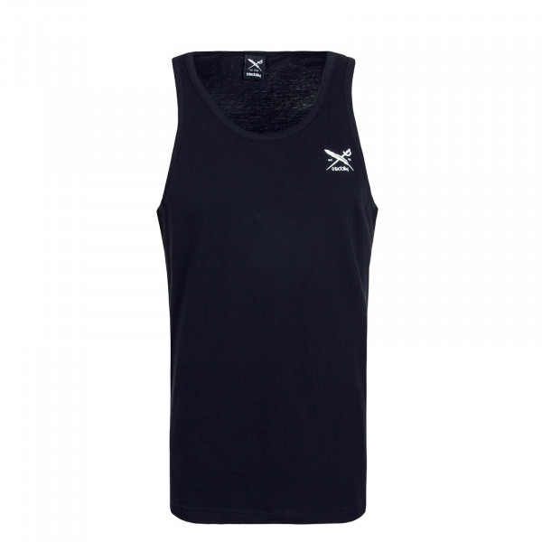 Herren Tank-Top Chestflag Black White