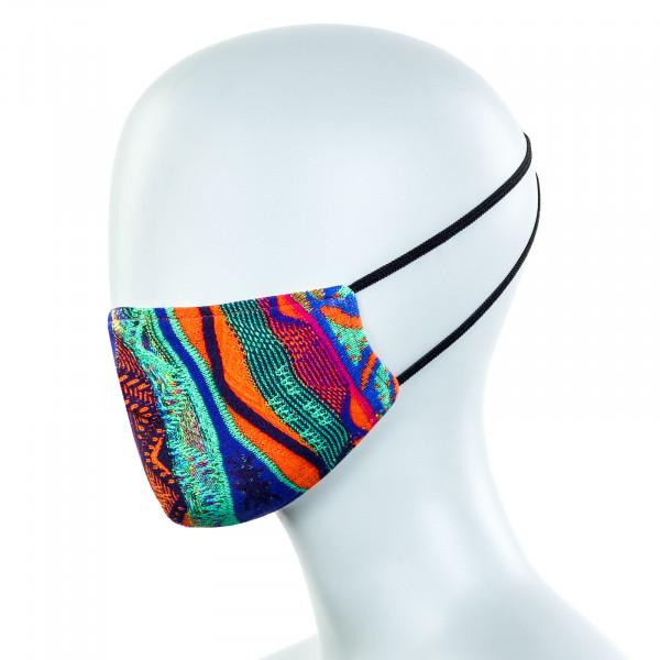 Alltagsmaske - Community Mask - Blue / Orange