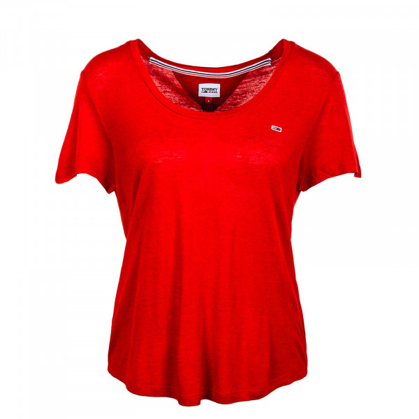 Damen T-Shirt - Regular Scoop 9789 - Deep / Crimson