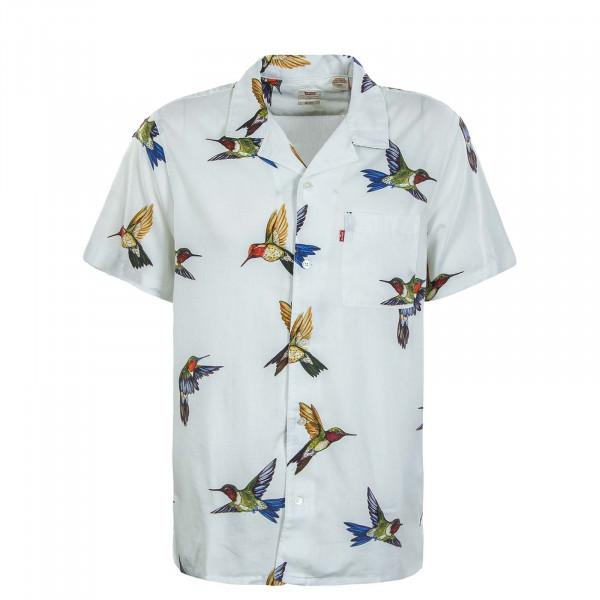 Herren Kurzarmhemd - Cubano Hummingbird - Bright / White