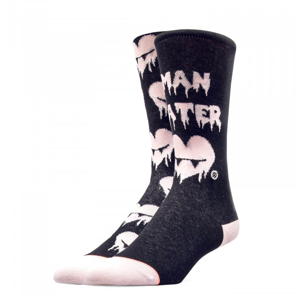 Damen Socken Hangry Black Pink
