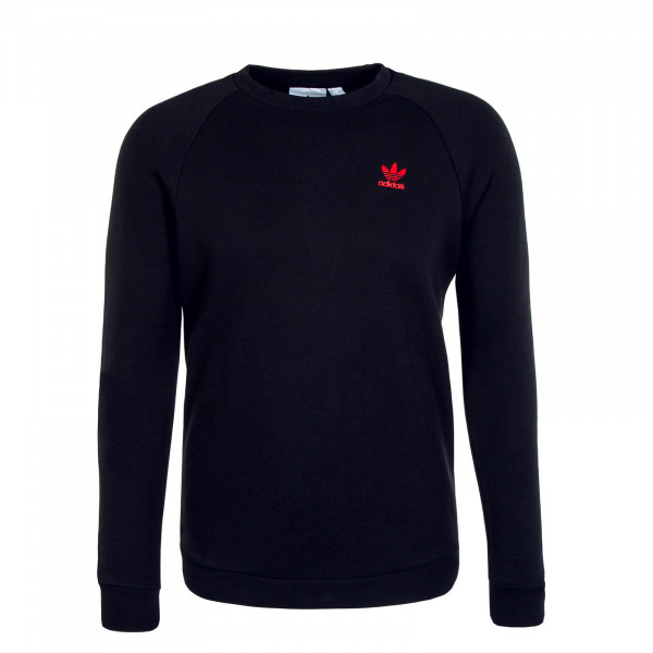 Herren Pullover - Sweat Essential Crewneck - Black Scarlet