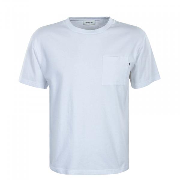 Herren T-Shirt - Bob Pocket Bright - White
