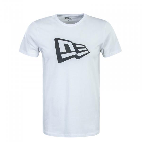 Herren T-Shirt NE DE Flag Infill White