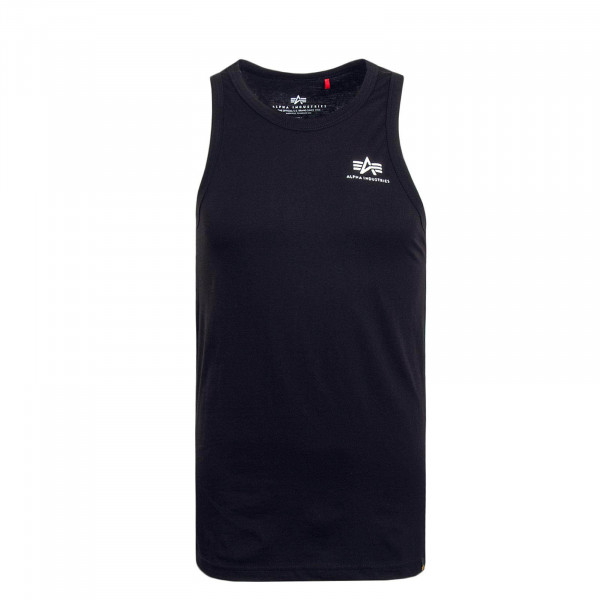 Herren Tank Small Logo Black White