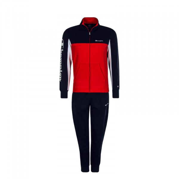 Herren Trainingsanzug Suit Full Zip Red Navy