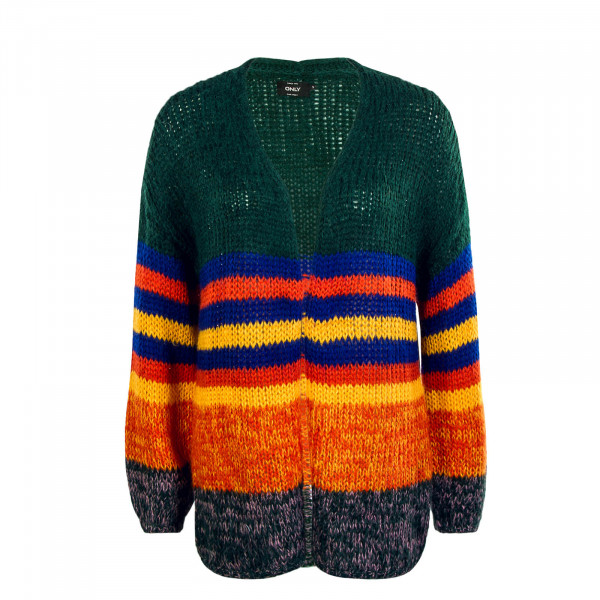 Damen Knit Cardigan New Carle Green Red