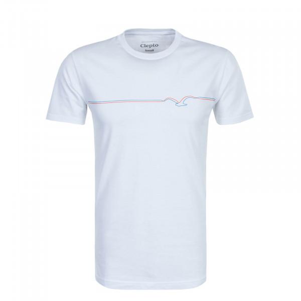 Herren T-Shirt Möwe Lines White