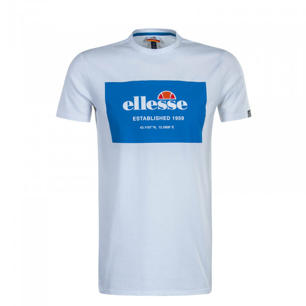 Herren T-Shirt Grosso White Blue