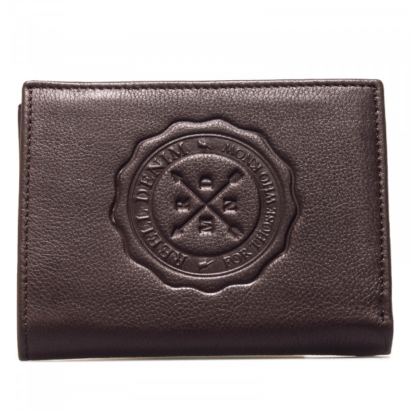 Wallet Logo Leather Brown