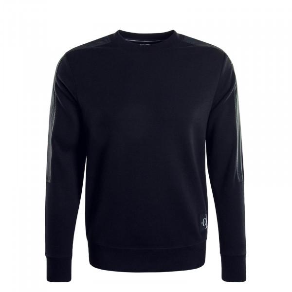 Herren Sweatshirt 4866 Mixed Media Black