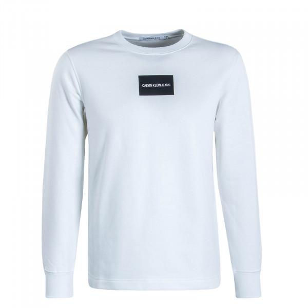 Herren Sweatshirt Small Instit Box White